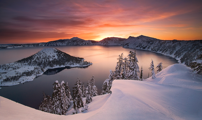 Crater Lake, Winter