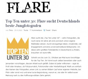 Das Online-Magazin Flare sucht Deutschlands beste Jungfotografen