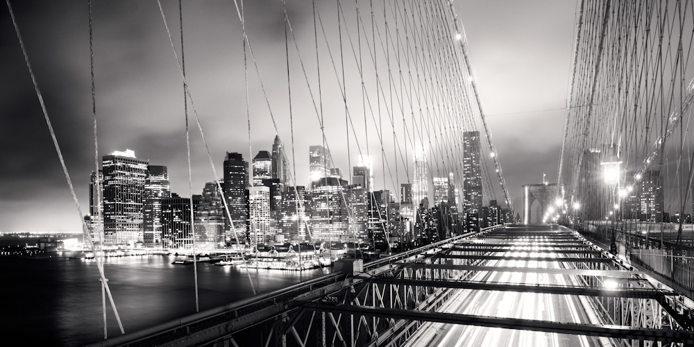 Schwarz Wei? Stadt Tapete : Pin Schwarz Wei? New York Skyline Brooklyn Bridge Schwarz on