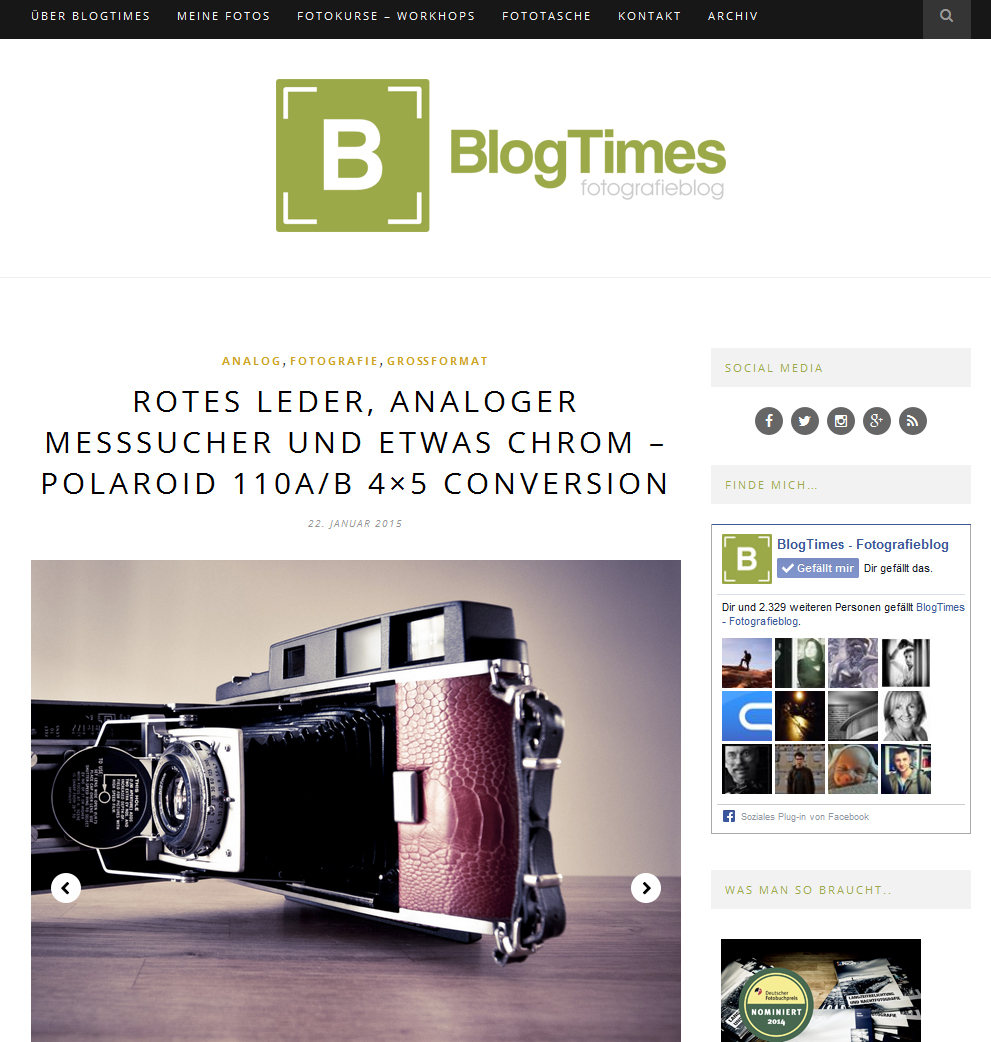 BlogTimes - Neues Design